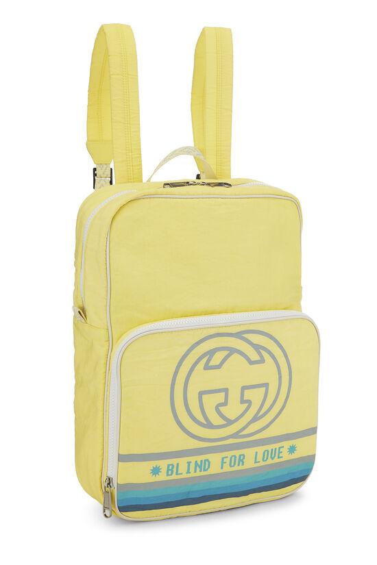 Yellow Nylon GG Backpack, , large image number 1