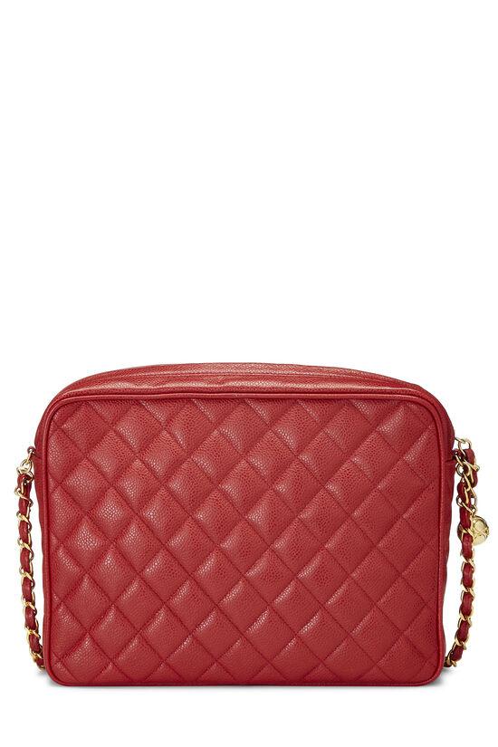 Red Quilted Caviar Pocket Camera Bag Large, , large image number 4