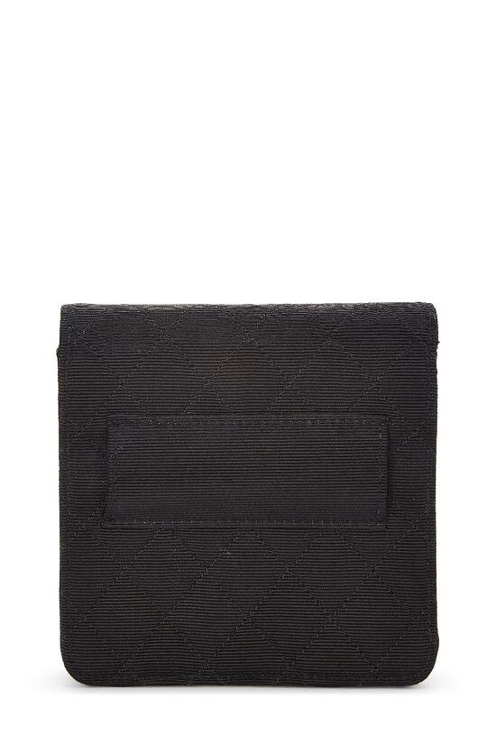 Black Quilted Silk Faille Belt Bag, , large image number 2