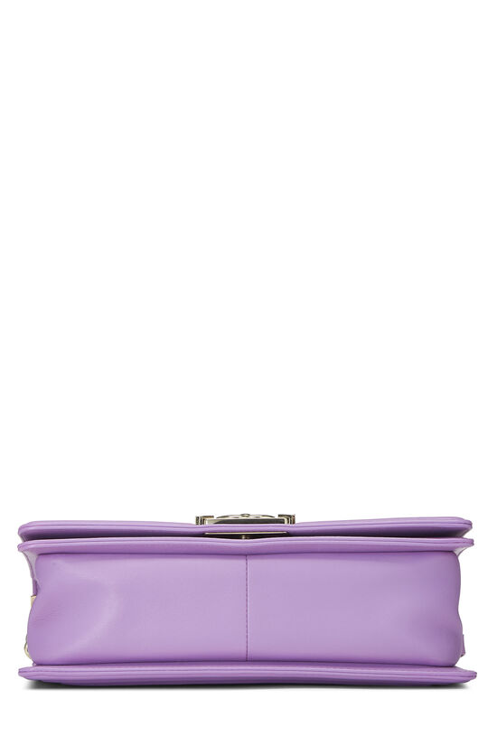 Purple Chevron Lambskin Boy Bag Medium, , large image number 5