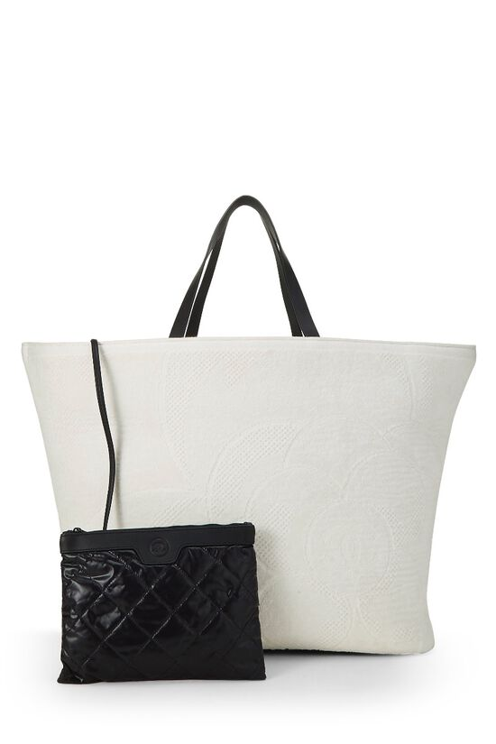 White Camellia Terry Cloth Tote XL, , large image number 3