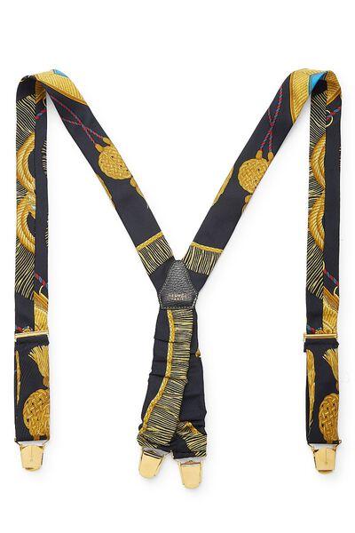 Black Silk Suspenders, , large