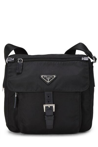 Black Vela Messenger Bag