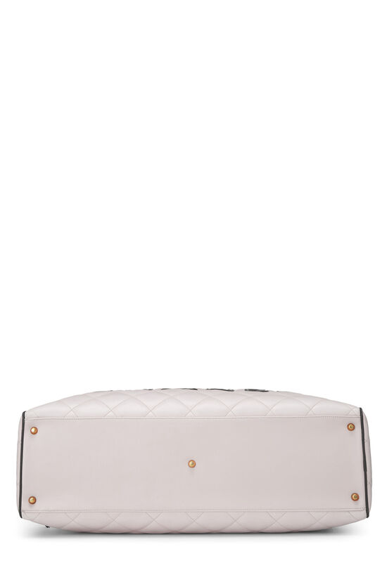 White Quilted Lambskin Bowler, , large image number 4