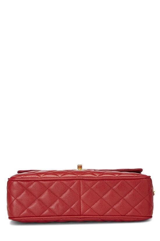 Red Quilted Caviar Pocket Camera Bag Large, , large image number 5
