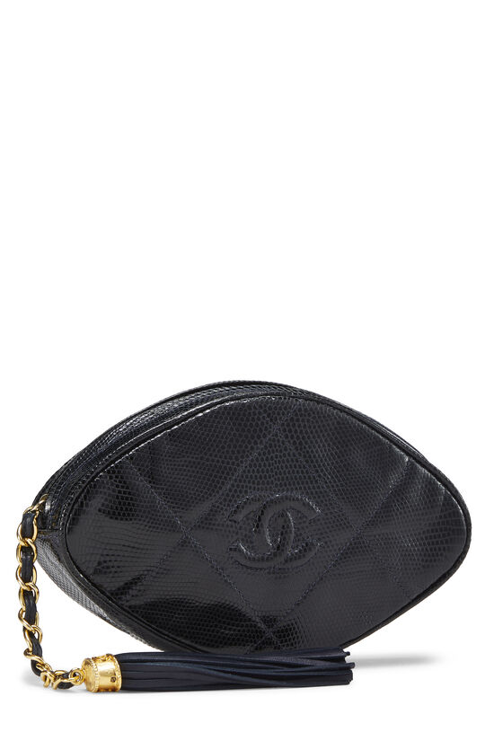 Navy Lizard Oval Clutch, , large image number 1