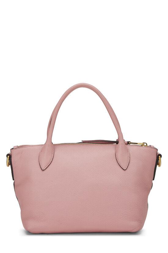 Pink Vitello Daino Handbag Small, , large image number 3