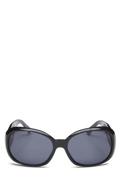 Black Acrylic Oversize Camellia Sunglasses