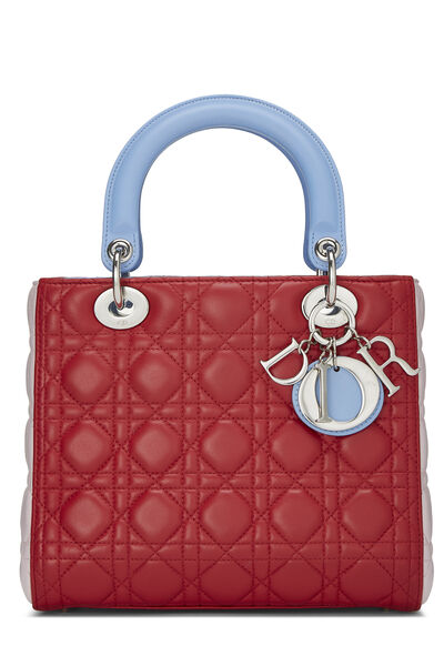 Multicolor Cannage Quilted Lambskin Lady Dior Medium
