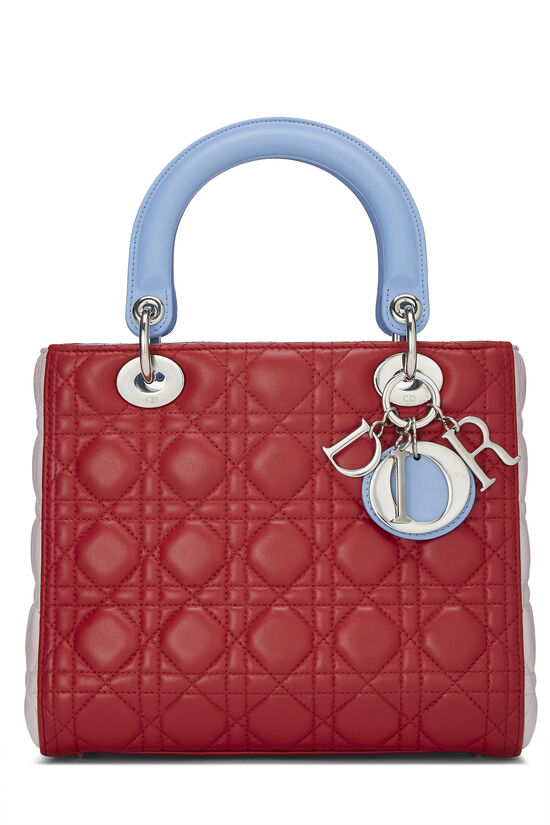 Multicolor Cannage Quilted Lambskin Lady Dior Medium, , large image number 0