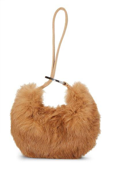 Brown Fur Wristlet