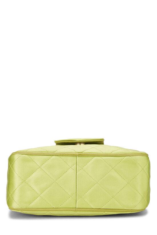 Green Quilted Satin Pocket Camera Bag Mini, , large image number 5