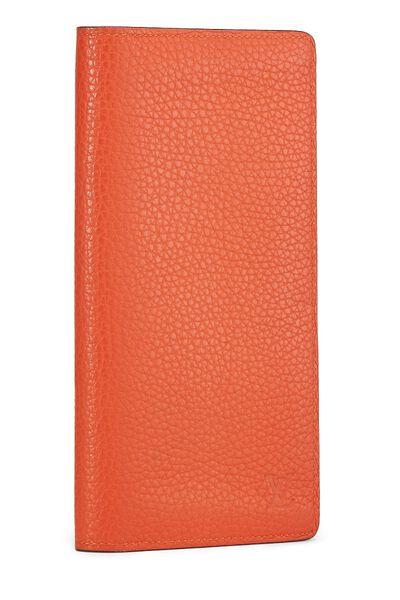 Orange Clemence Brazza Wallet, , large