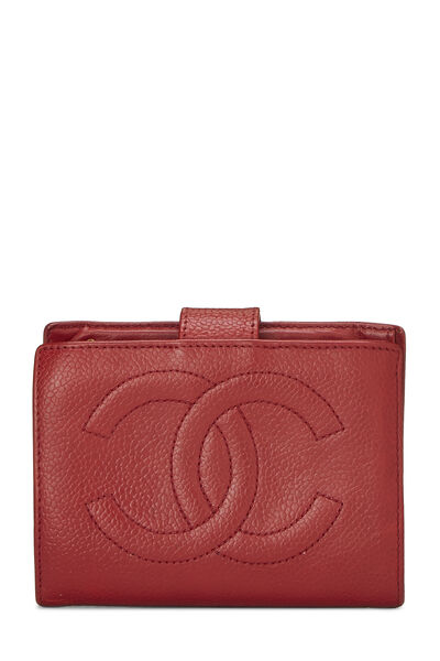Red Caviar 'CC' Compact Wallet