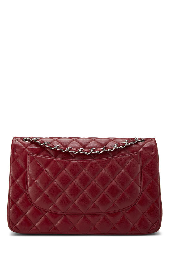 Red Quilted Caviar New Classic Flap Jumbo, , large image number 3