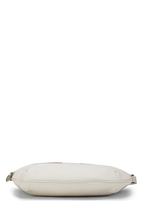 Ivory Leather Logo Hobo Bag, , large image number 4