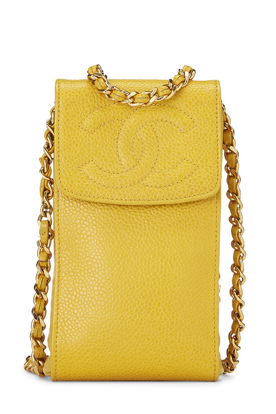 Yellow Caviar Timeless 'CC' Crossbody Pouch, , large image number 0