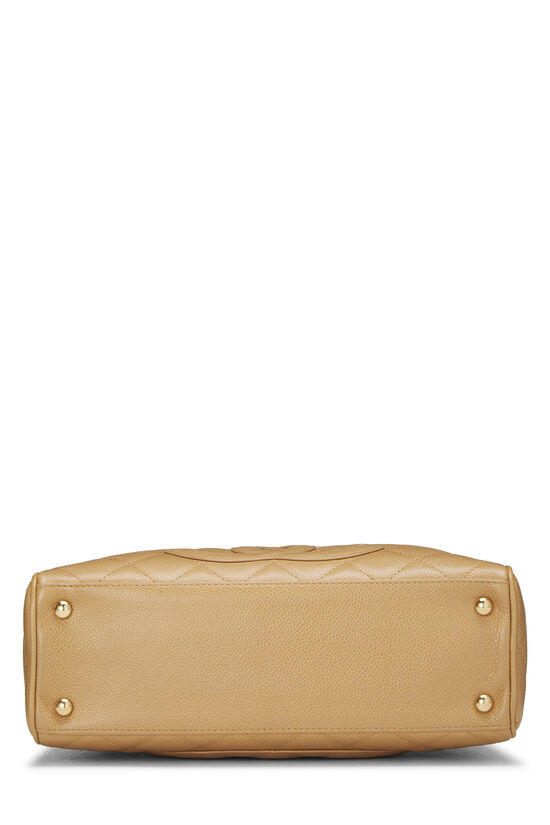 Beige Quilted Caviar Bowler Mini, , large image number 4