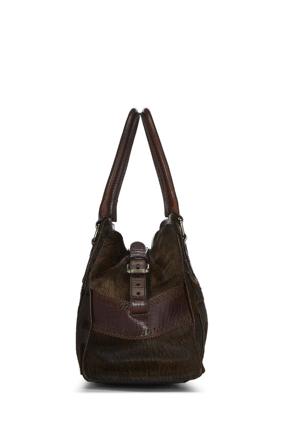 Brown Zucca Pony Hair Bag Du Jour Small, , large image number 2