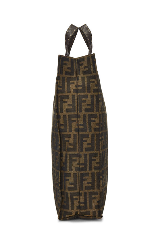 Brown Zucca Canvas Selleria Vertical Tote, , large image number 2