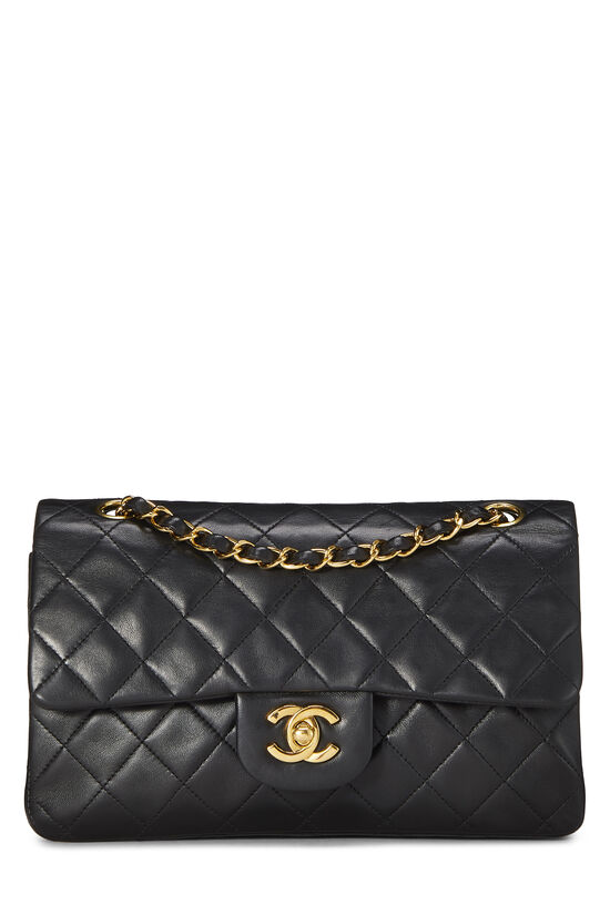 Black Quilted Lambskin Classic Double Flap Small, , large image number 0