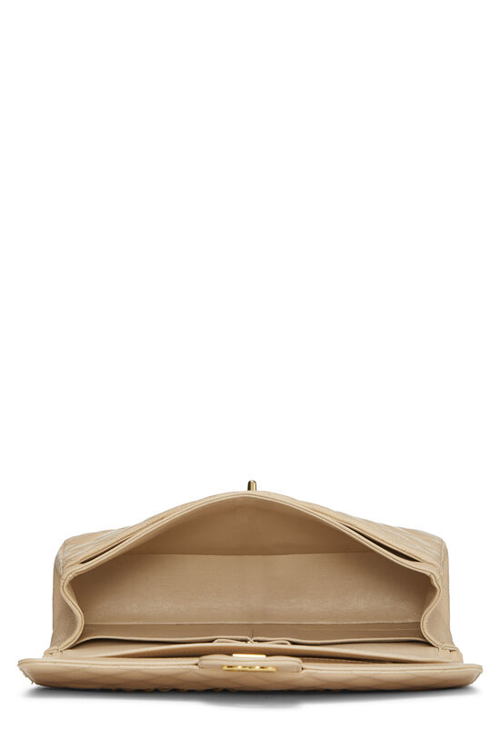 Beige Quilted Caviar Classic Double Flap Medium, , large image number 5