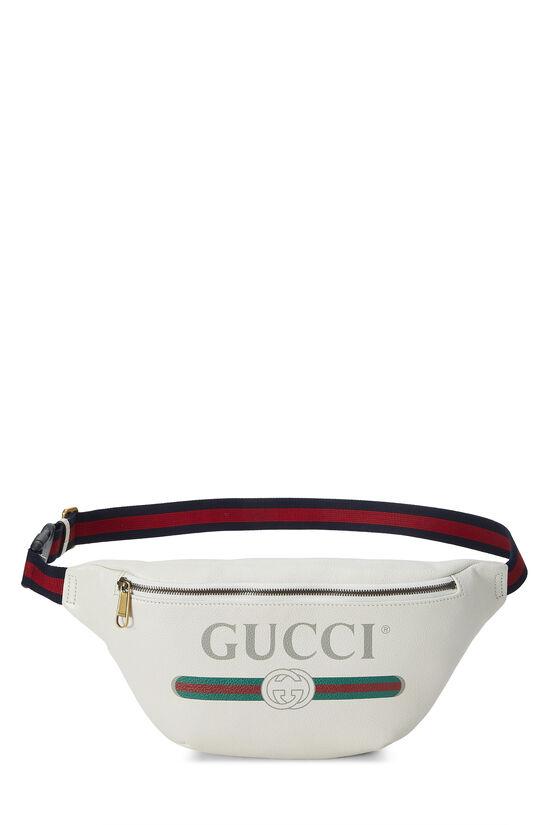 White Leather Logo Belt Bag Small, , large image number 0