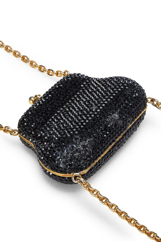 Black Crystal Double Purse Minaudiere, , large image number 7