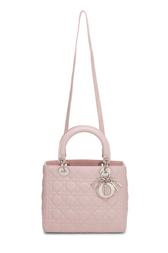 Pink Cannage Quilted Lambskin Lady Dior Medium, , large image number 6