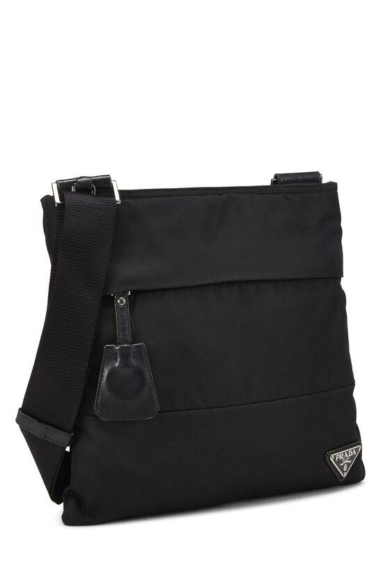 Black Nylon Shoulder Bag, , large image number 1