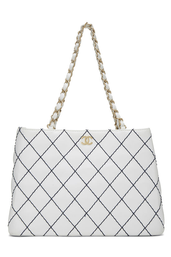 White Calfskin Wild Stitch Tote, , large image number 0