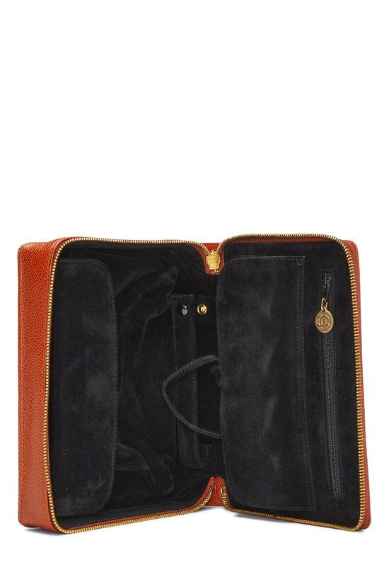 Orange Caviar Timeless Jewelry Case, , large image number 3