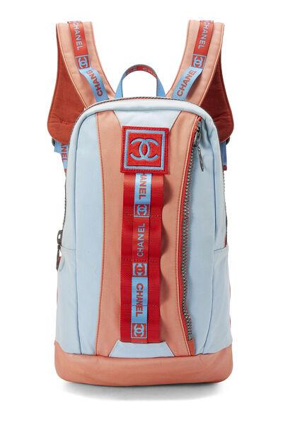 Blue & Orange Canvas Sportline Backpack