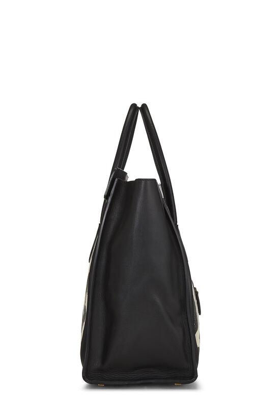 Black Calfskin & Animal Print Canvas Luggage Medium, , large image number 2