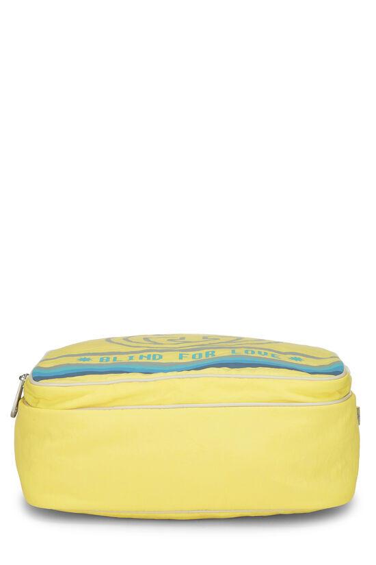 Yellow Nylon GG Backpack, , large image number 4