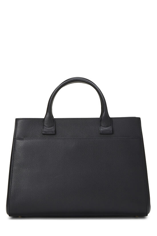 Black Leather Neo Executive Shopping Tote, , large image number 4