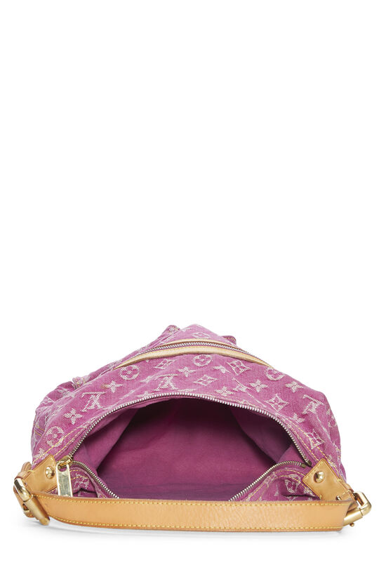 Pink Monogram Denim Baggy GM, , large image number 5