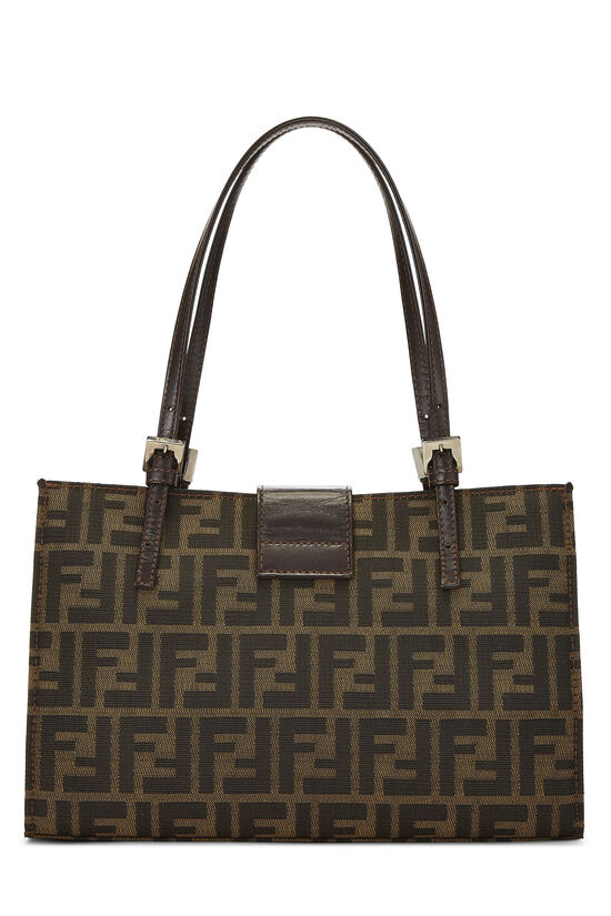 Brown Zucca Canvas Shopping Tote Small, , large image number 3