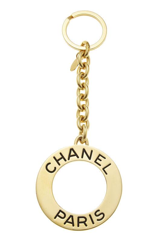 Gold Circular Paris Keychain, , large image number 1