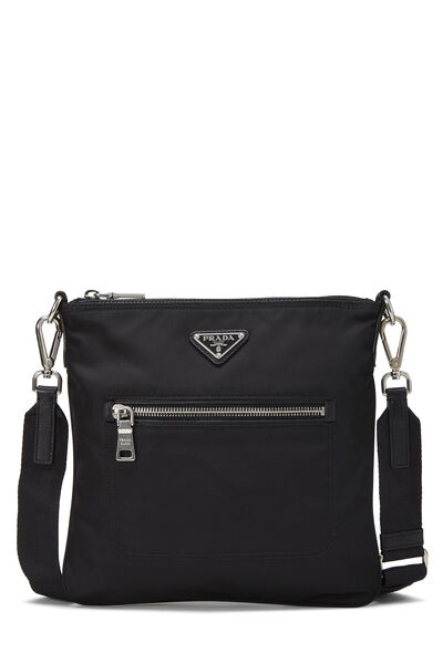 Black Tessuto Messenger Bag