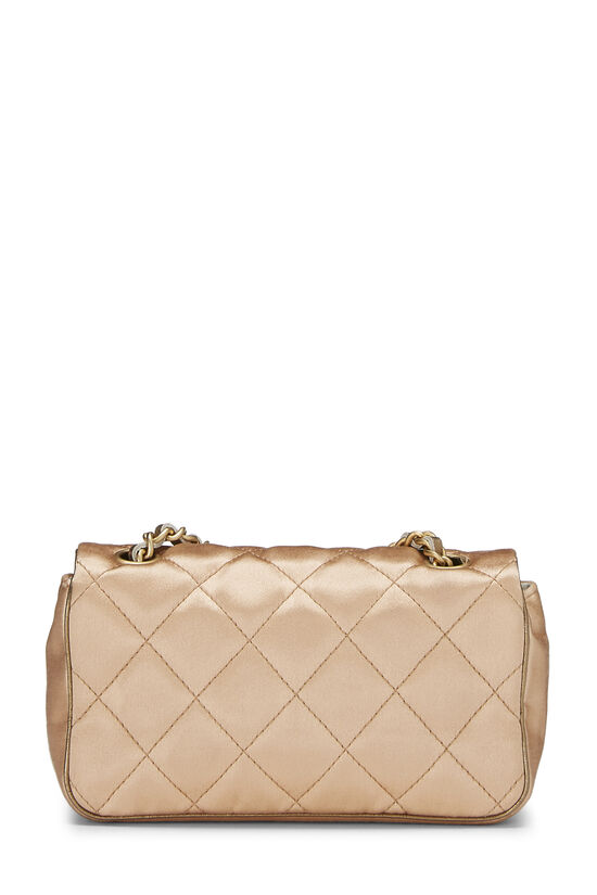 Beige Quilted Satin Half Flap Micro, , large image number 3