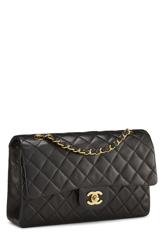 Black Quilted Lambskin Classic Double Flap Medium, , large image number 1