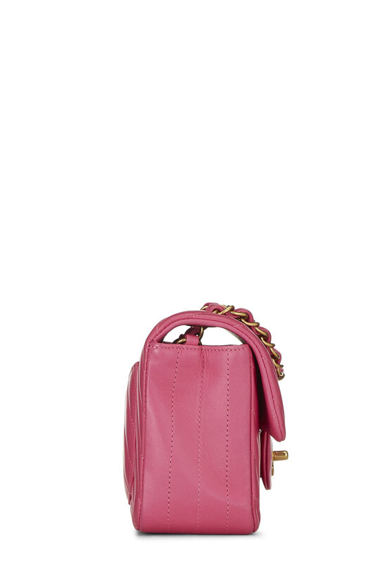 Pink Chevron Lambskin Classic Flap Mini, , large image number 2