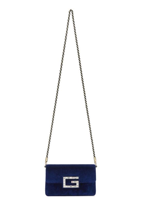 Blue Velour Broadway Crossbody Mini, , large image number 6
