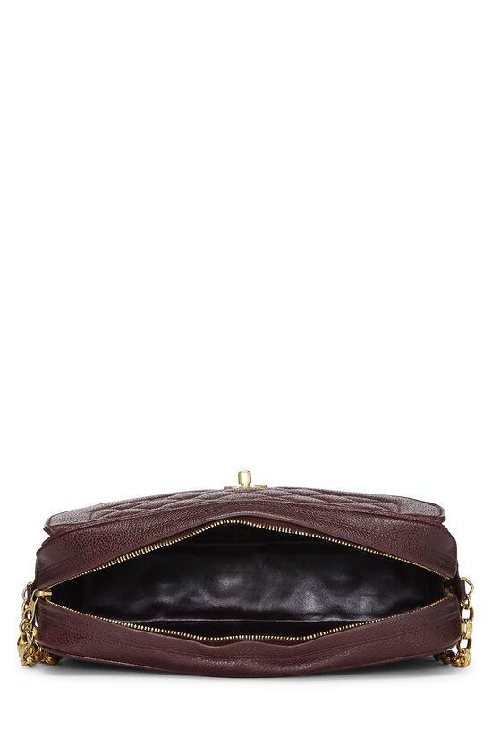 Burgundy Quilted Caviar Pocket Camera Bag Large, , large image number 5