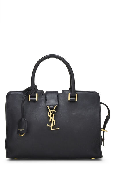 Black Leather Baby Cabas