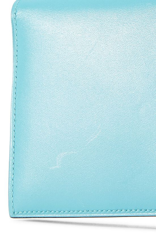 Aqua Lizard & Leather Bearn Wallet, , large image number 4
