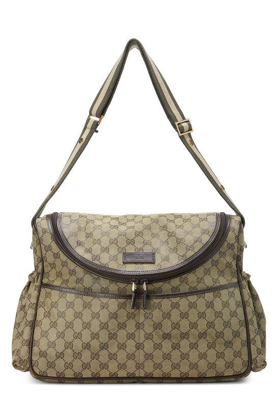 Green GG Canvas Diaper Bag, , large image number 6