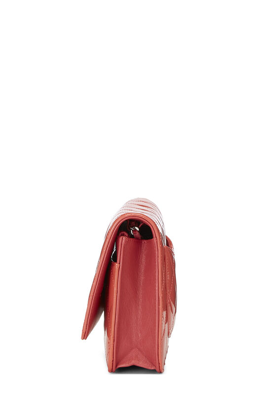 Coral Quilted Patent Leather Classic Wallet On Chain (WOC), , large image number 3