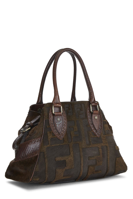 Brown Zucca Pony Hair Bag Du Jour Small, , large image number 1